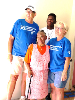 Miss Anita, her grandson + Bruce and Pat