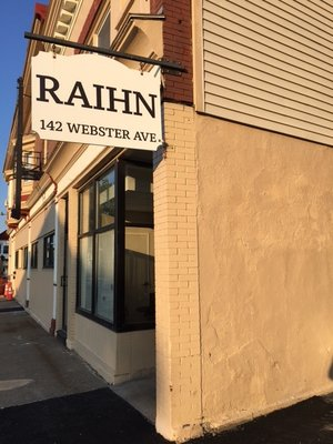Front door and sign on new RAIHN location